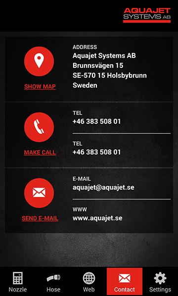 Aquajet app contact