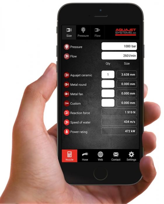 Aquajet app hand