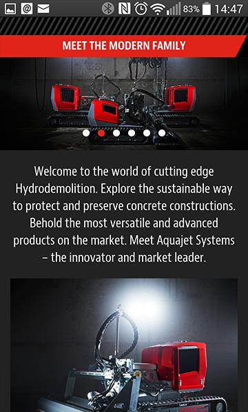Aquajet app web