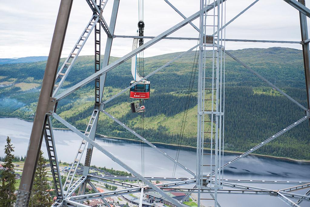 Aquajet on location - Åre cableway