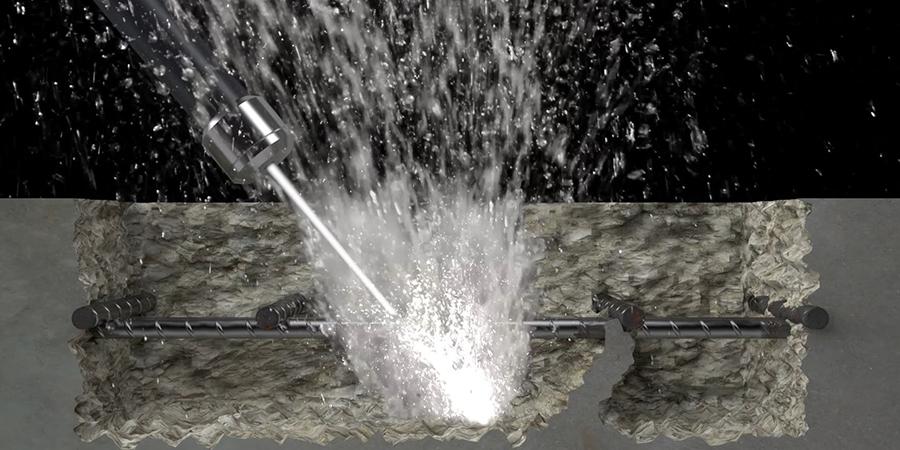 hydrodemolition aquajet systems water technique technology concrete rebars aqua cutter jet