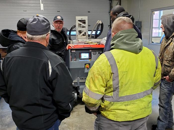 aftersales Brokk Warehouse Aquajet service facility spare parts demo hydrodemolition equipment aqua cutter training north america usa