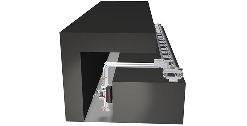 Aqua Spine Hydrodemolition Multi-Modular Support Rail narrow space