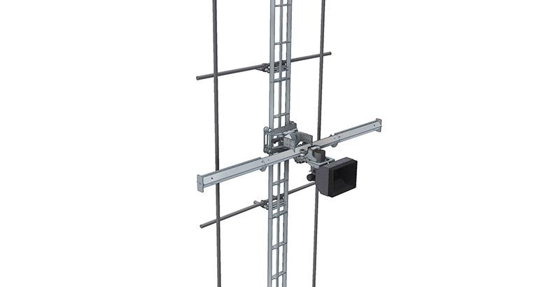 Aqua Spine Hydrodemolition Multi-Modular Support Rail scaffolding