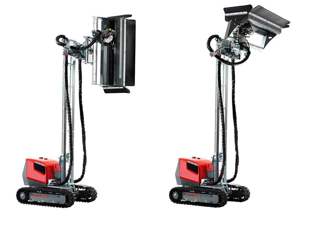 Aqua cutter 410V Hydrodemolition Robot Mast raised