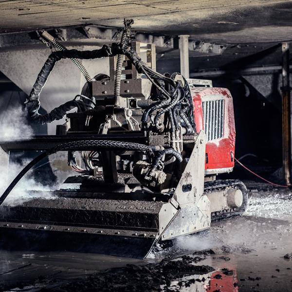 Hydrodemolition Robot parking garage concrete repair