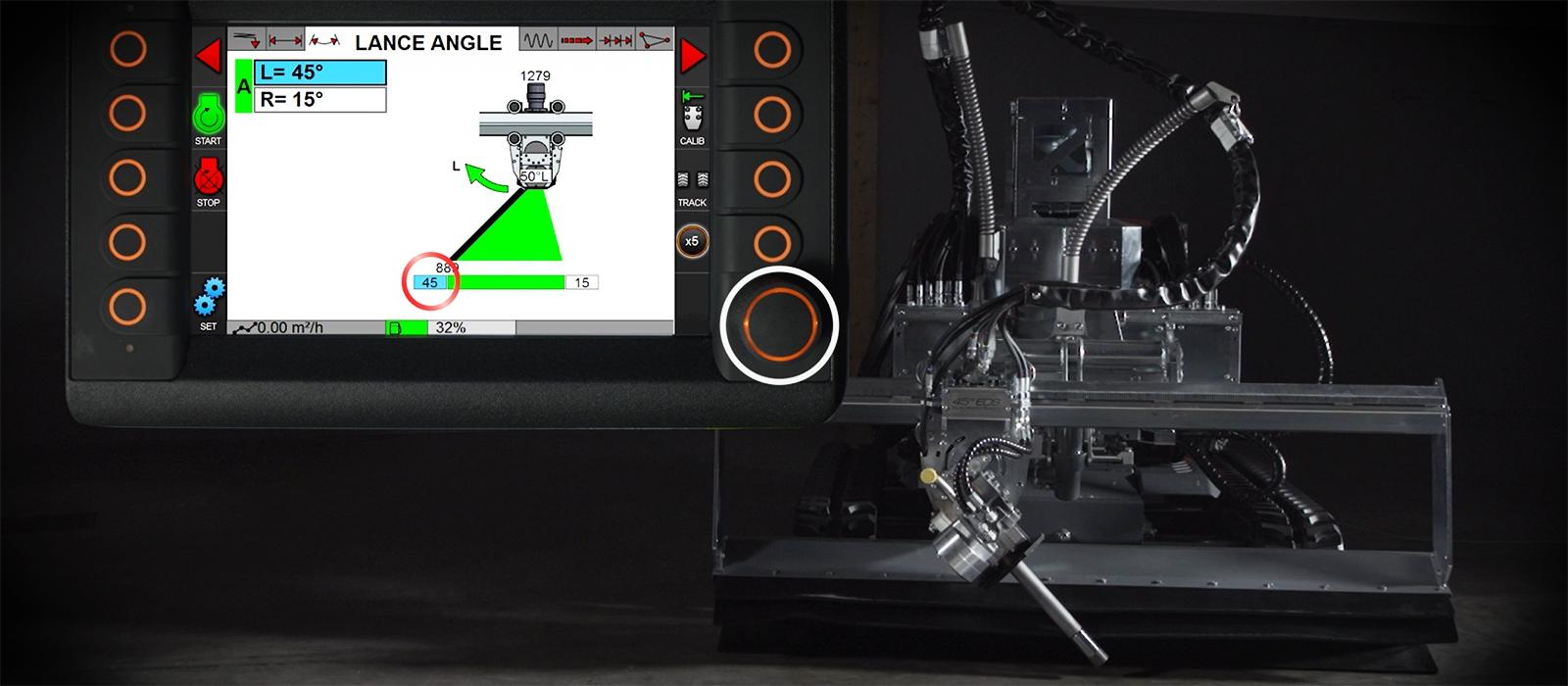 hydrodemolition aquajet systems evolution control system