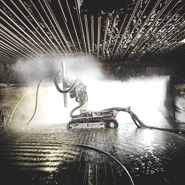aquajet pcm carrier power control module aqua cutter hydrodemolition industrial cleaning refractoring