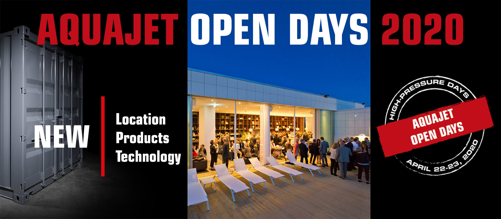 aquajet open days 2020 hydrodemolition industrial cleaning high pressure