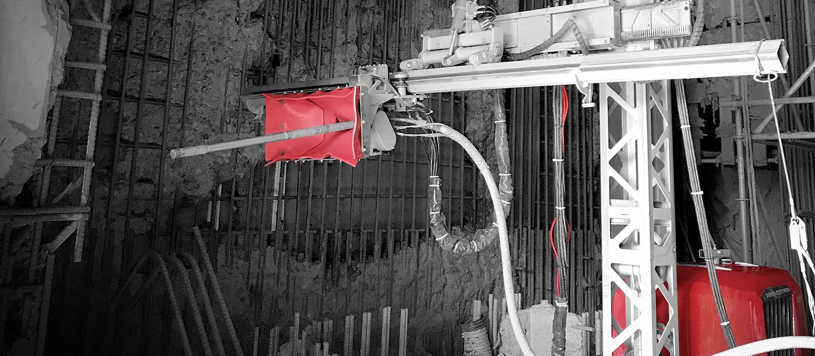 Aquajet on location jobreport customer hydrodemolition concrete repair aqua cutter ecoclear canada job project hydroelectric generating station operation
