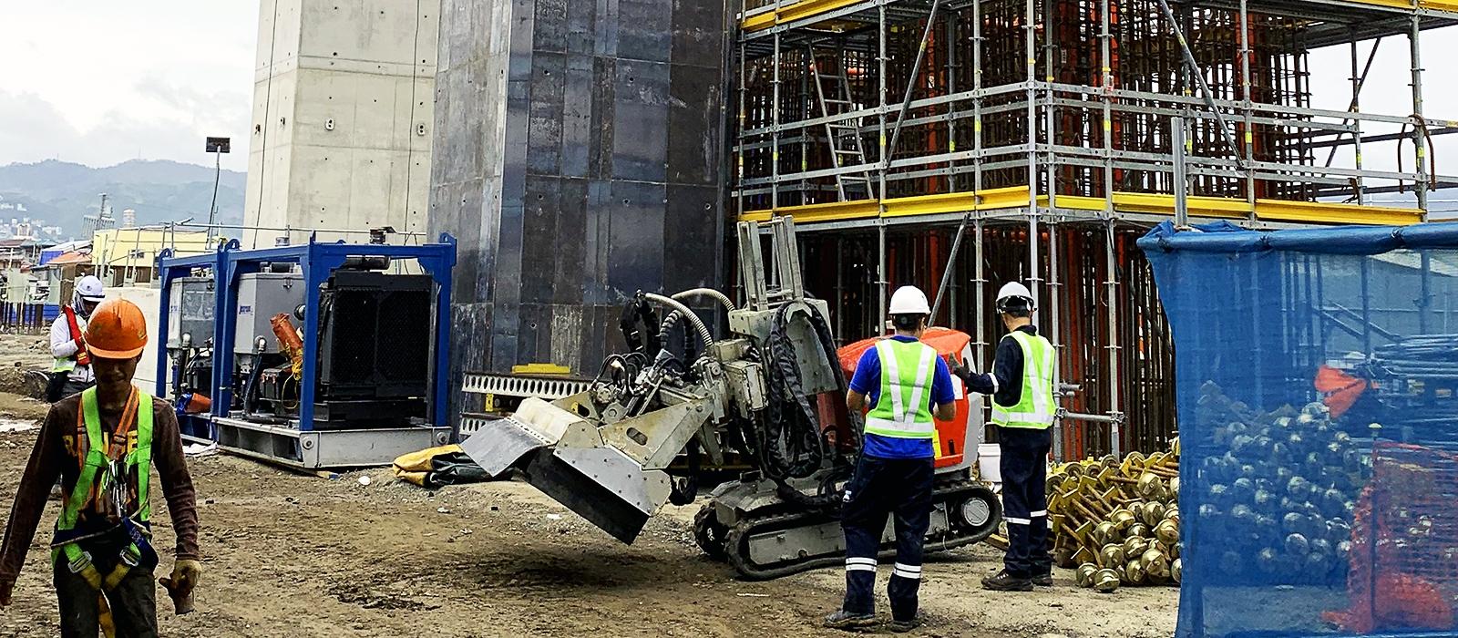 aquajet on location job story awe filippines bridge concrete repair aqua cutter 710
