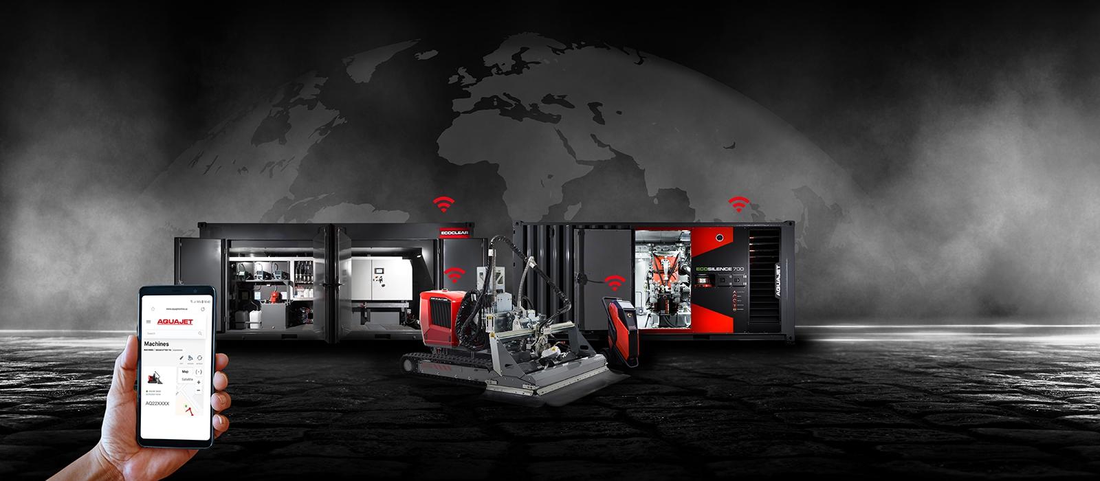 aquajet hydrodemolition online industry 4.0 equipment ergo aqua cutter ecoclear ecosilence power pack